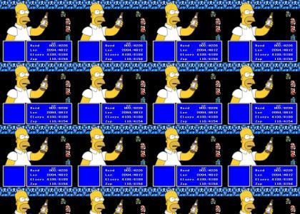 Homer Simpson is The Dark Cloud
