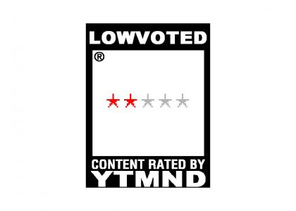 YTMND Rating: Lowvoted