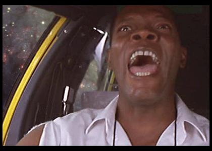 samuel l jackson in a cab in space