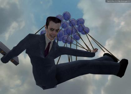 gman is having a wonderful balloon time