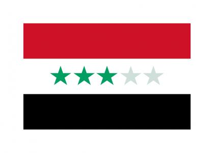 More understandable Iraq flag's meaning.