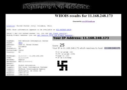 OMG, Secret Nazi IP Addr