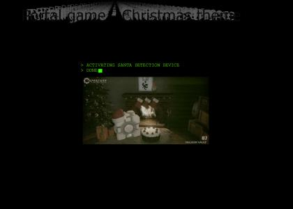 Portal game - Christmas theme
