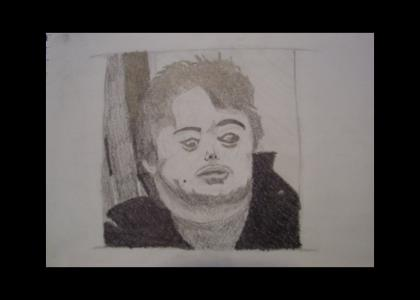 I drew Brian Peppers for art class
