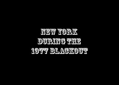 New York during the 1977 blackout