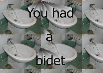 You had a bidet.......?