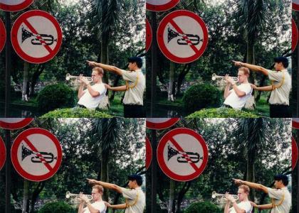 Breaking the law!