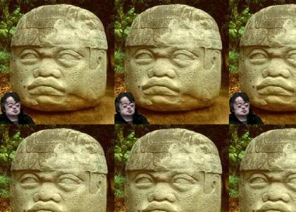 Brian peppers and olmec, seperated at birth?