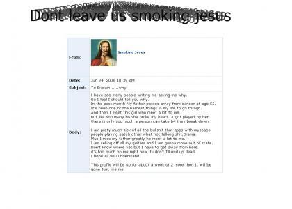 Jesus gone emo