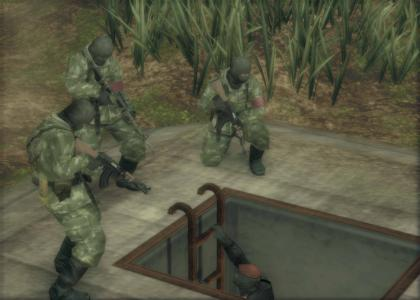 Metal Gear Solid soldiers can hear footsteps!