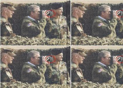 George Bush fails at goggles