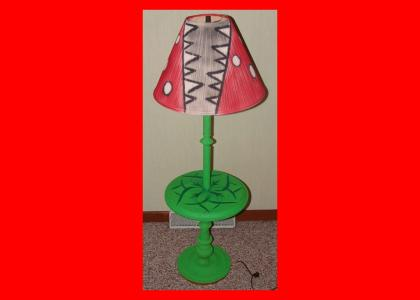 Lamp + Spraypaint = Piranha Plant (now with Light-Up Action!)