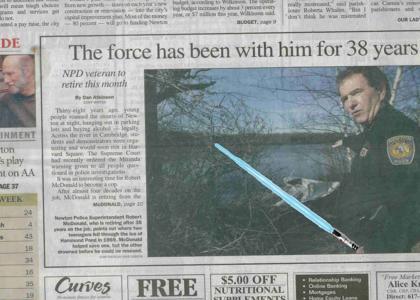 LOL he's got the force