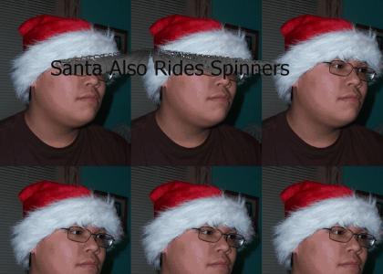 Santa Hat Ridin Spinners