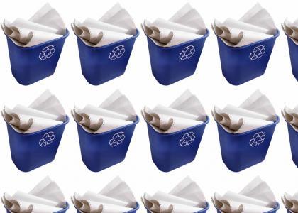R-E-C-Y-C-L-E Recycle!