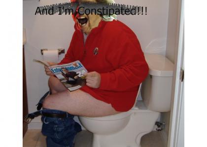 James Hetfield on the toilet