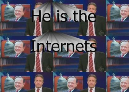 J. Stewart teaches Ted Stevens about the Internet