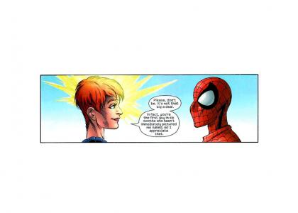 Ultimate Spider-Man has NO CLASS, even around psychics.