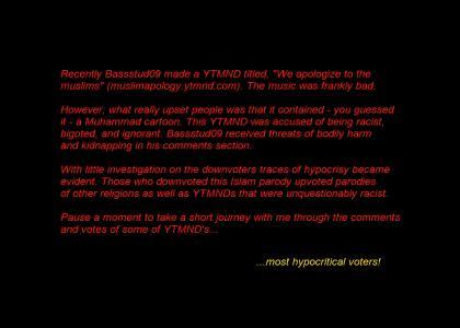 Hypocrisy on YTMND (OMG Muhammad)
