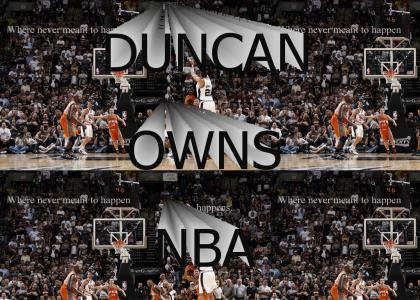 DUNCAN FOR THREE! (updated w/ better pic)
