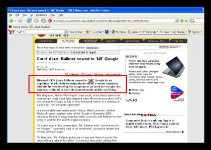 """""""Kill"""" google??"""