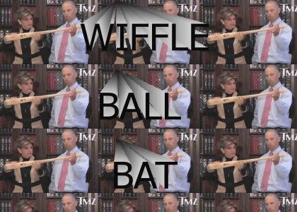 With a Wiffleball Bat