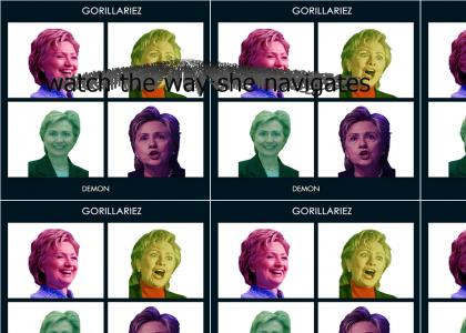 Hillary Laughs With Gorillaz