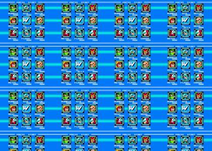 Megaman 2 Boss Select