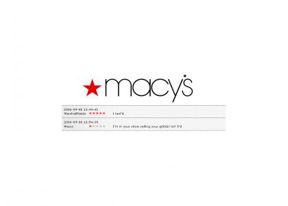 Macy's is a downvoter