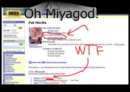 Mr. Miyagi is....OMGWTFBBQ!