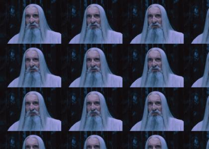 Saruman passes his time