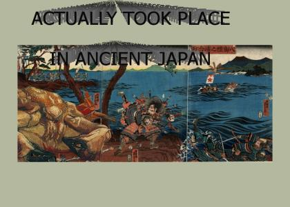 Ancient Japanese War Mural