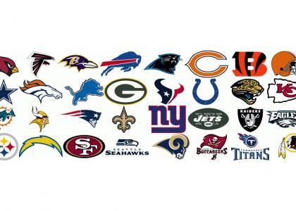 I say the NFL teams