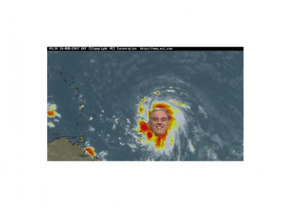 Hurricane Dean's projected path (v 3.2)
