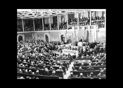 FDR Addresses Congress