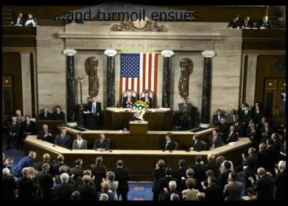 Drew Pickles addresses Congress...
