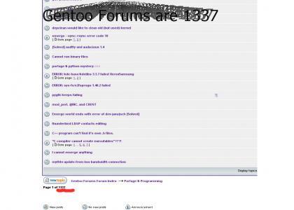 Gentoo forums are 1337