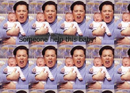 Rosie O'Donnell steals a baby!