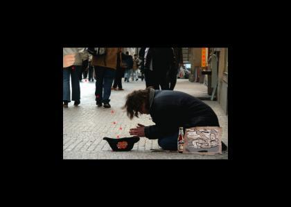 A YTMND Beggar on the Streets of Manhattan