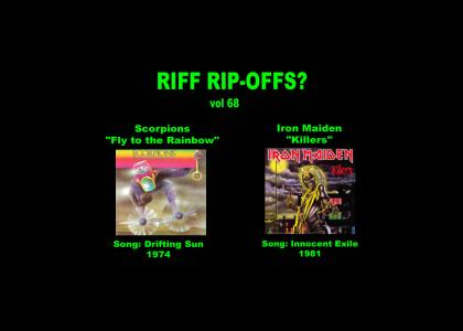 Riff Rip-Offs Vol 68 (Scorpions v. Iron Maiden)