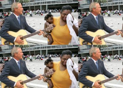 Bush Sings to Katrina Victims