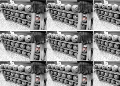 Perverted bowling balls