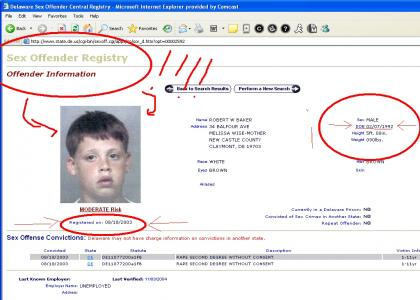 omg 11 year old registered offender