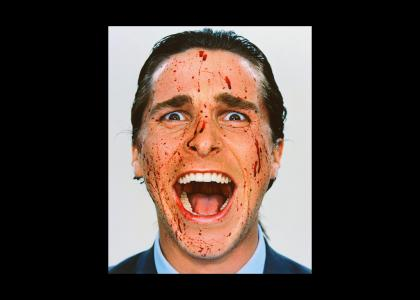 Patrick Bateman stares into your soul