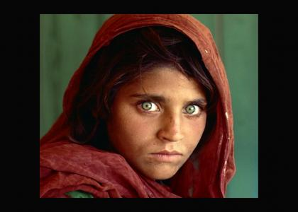 Afghan Girl Stares Into Your Soul