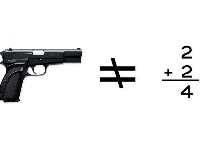 A Gun is Not a Math Problem.