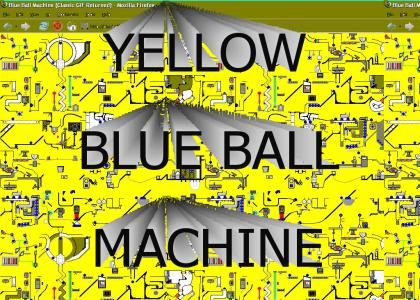 Yellow Blue Ball Machine