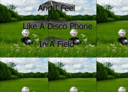 And I Feel Like A Disco Phone In A Field