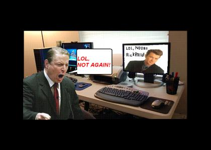 Al Gore gets RickRoll'd