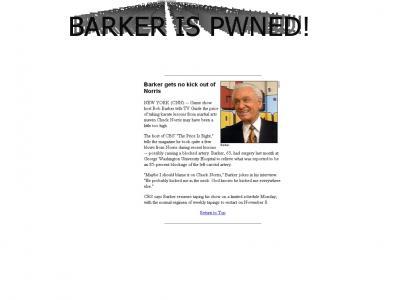 Barker gets PWNED